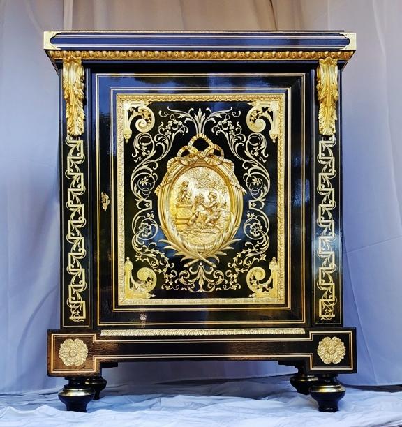 meuble d'appui Boulle signé BEFORT Jeune vers 1860