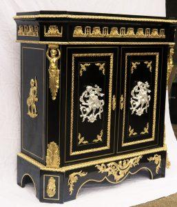 b225 rare meuble d 39 appui boulle napoleon iii aux 2 bronzes la galerie napol on 3. Black Bedroom Furniture Sets. Home Design Ideas