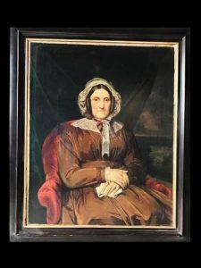 HST école Belge XIX portrait de femme