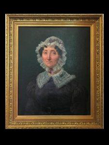 HST XIXeme portrait d'une dame au fichu