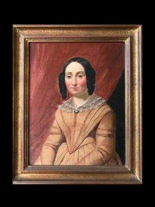 HST XIXeme portrait d'une dame en buste