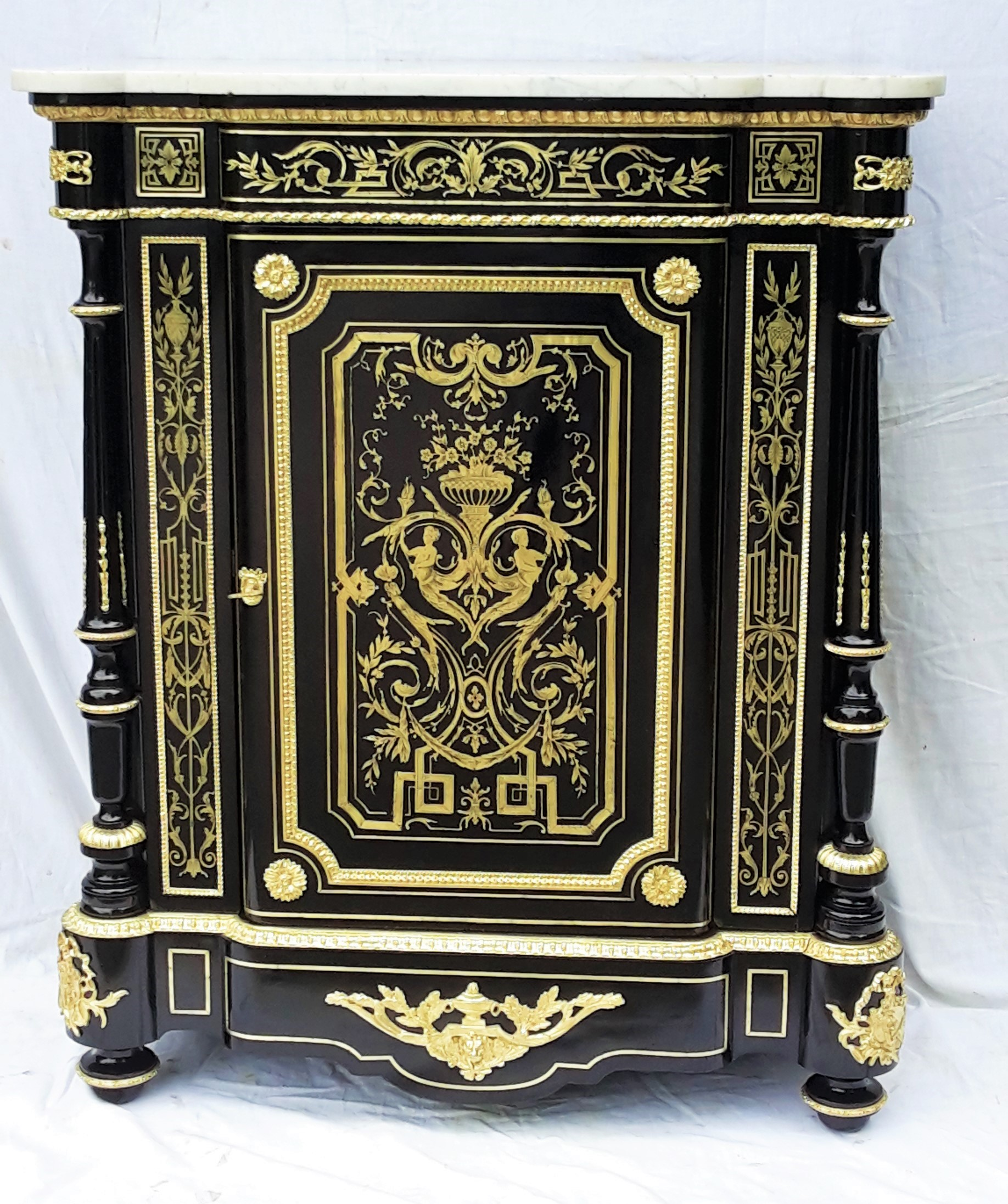 b274 meuble dormants marqueterie boulle napoleon iii la galerie napol on 3. Black Bedroom Furniture Sets. Home Design Ideas