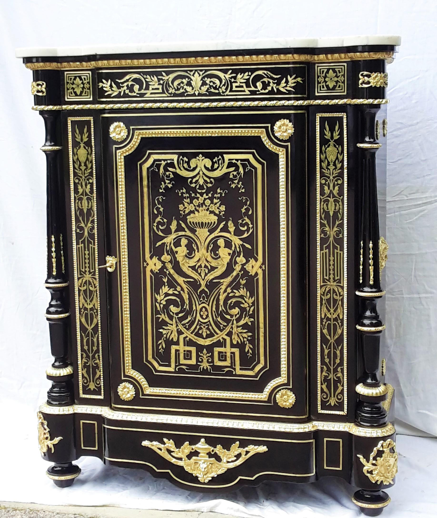 B274 meuble dormants marqueterie boulle napoleon iii for Meuble napoleon 3