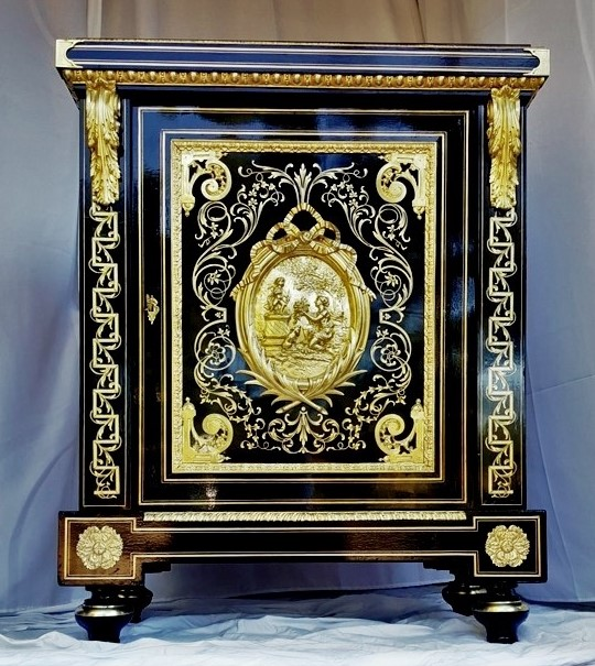 Meuble d'apparat Boulle Napoleon III signé BEFORT jeune