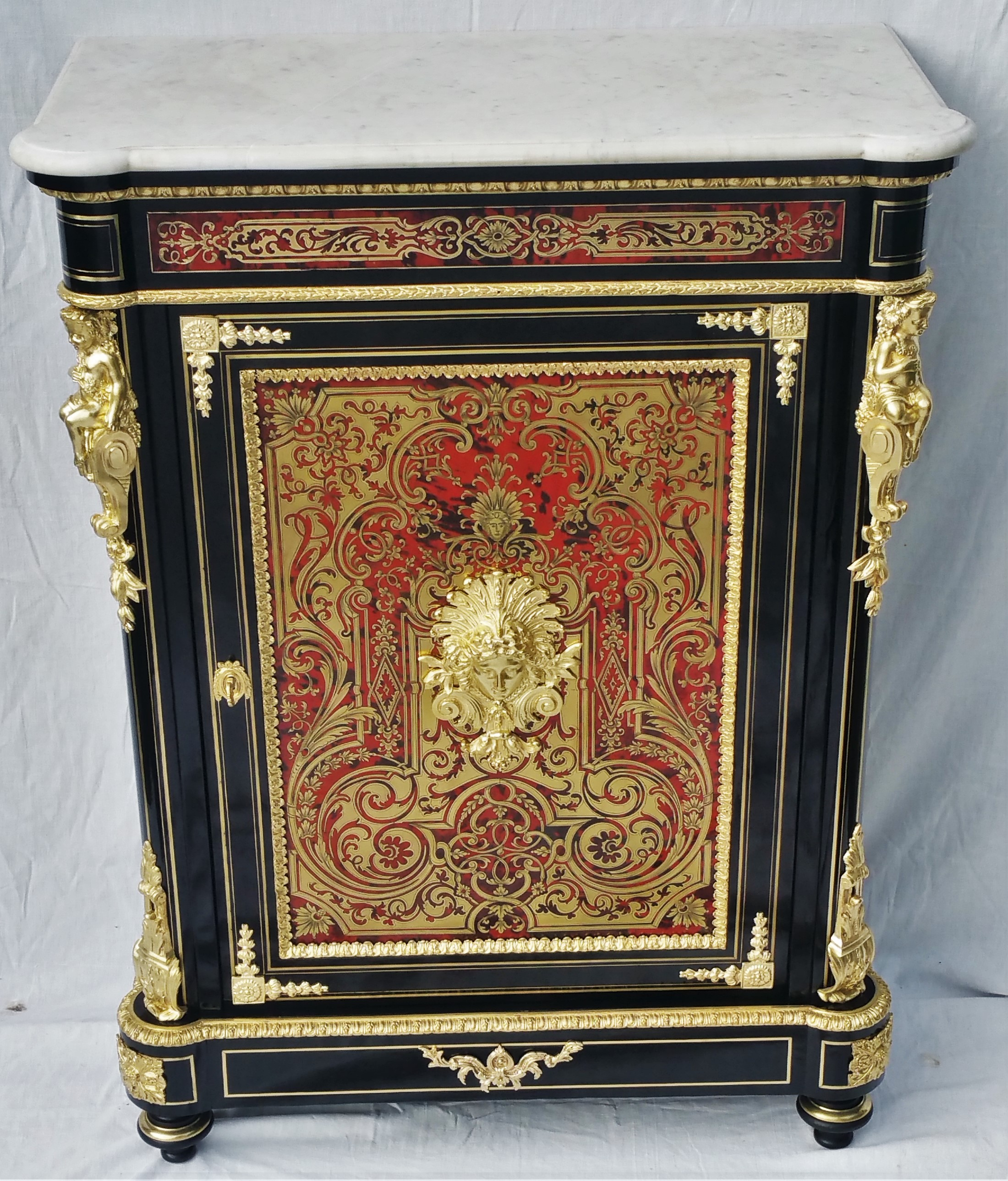 Meuble d'appui marqueterie Boulle Napoleon III