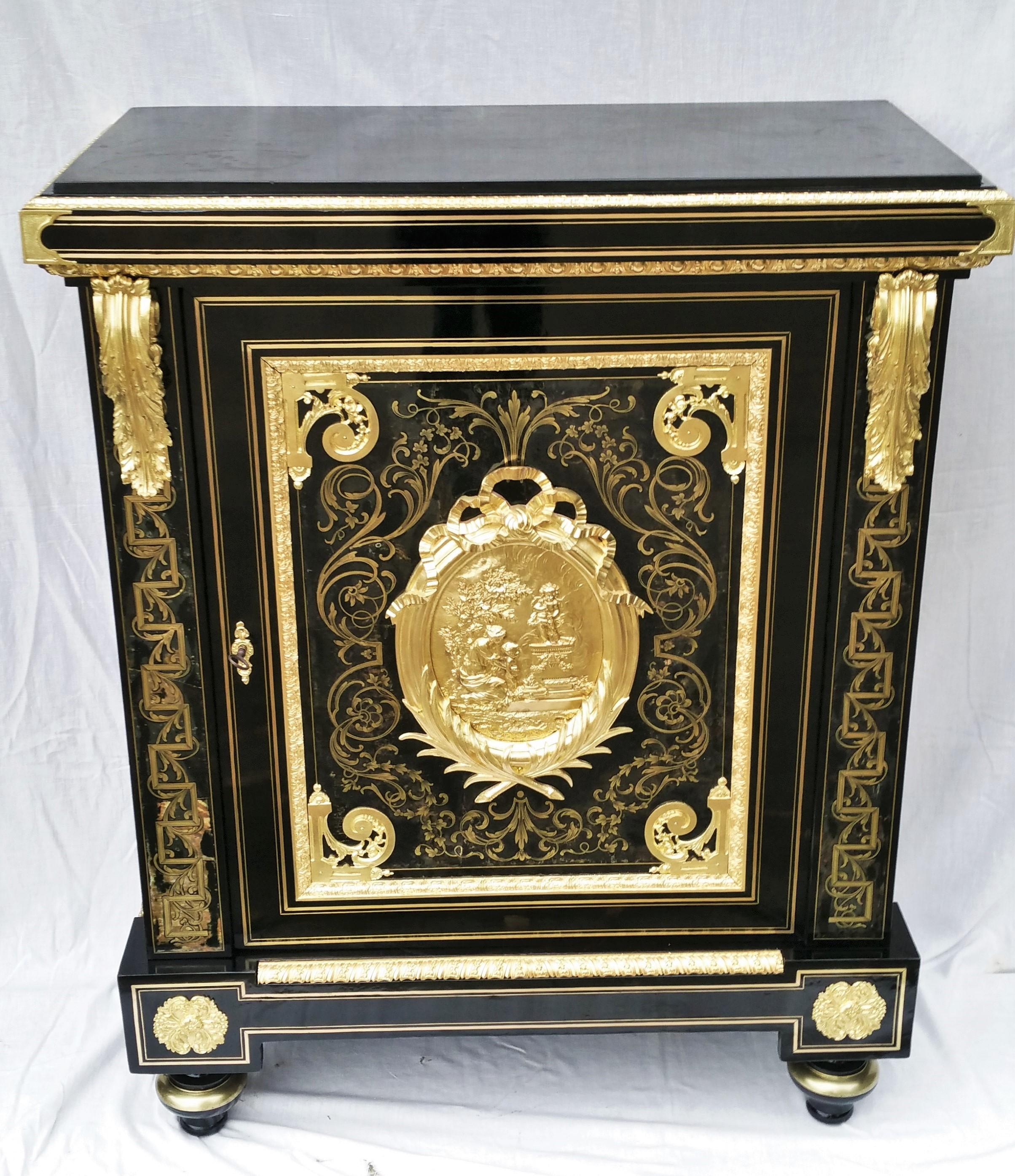 Meuble d'apparat marqueterie Boulle signé BEFORT jeune Napoleon III